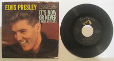 """Elvis Presley """"It's Now or Never"""" RCA 45rpm w/ PS EX Cond"""
