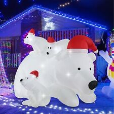 New ListingFashionlite 6ft Christmas Inflatable Polar Bear with 3 Cubs Airblown Yard Decora