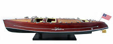 "Typhoon Speed Boat 28"" - Handmade Wooden Model Boat NEW"