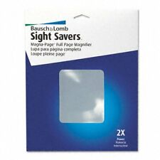 "Bausch & Lomb Magna-page Magnifier - 8.25"" Width X 10.75"" Length X - Acrylic"