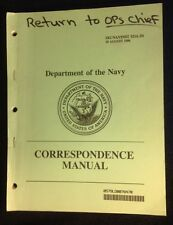 Department Of The Navy~Correspondence Manual~1996