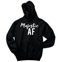 Majestic AF As F*** Funny Sweatshirt Cute Girlfriend Wife Party Gift Hoodie