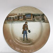 Royal Doulton Dickens Ware England Dewar'S Tom Pinch Plate Fast Ship wow