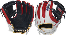 "Rawlings Pro716Sb-2Usa 12"" Heart Of The Hide Flag Collection Fastpitch Glove Usa"