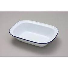Falcon White Enamel Oblong Pie Baking Dish Tin 28cm