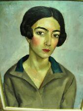 """BERTHOMME ST-ANDRE(1905-1977) """"Femme d'Alger"""" Huile ancienne sur toile  - 1927"""