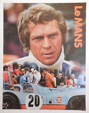 ORIGINAL 1971 Le Mans Steve McQueen Gulf Oil Porsche 917 Movie Poster NOS RARE