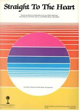 """CRYSTAL GAYLE """"STRAIGHT TO YOUR HEART"""" SHEET MUSIC-PIANO/VOCAL/GUITAR/CHORDS-NEW"""
