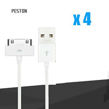 4 x USB Charging Sync Data Cable Charger Adapter Cord for iPhone 4 4S 3GS