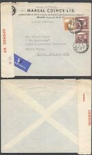 Palestine WWII 1942 - Cover to USA - Censor 10000/91
