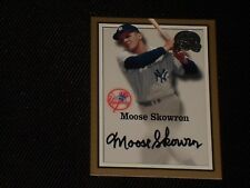 MOOSE SKOWRON 2000 FEER GREATS OF THE GAME CERTIFIED SIGNED AUTOGRAPHED CARD