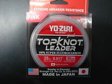 YO-ZURI TOPKNOT LEADER SUPER FLUOROCARBON 25lb 30yd R1229-DP Disappearing Pink
