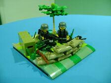 LEGO LOT #50 CUSTOM WW2 WORLD WAR 2 GERMAN GRAY MINIFIGURE MACHINE GUN SANDBAGS