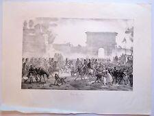Lithographie de Martinet, Napoléon, Entrée dans Milan