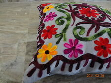 Hand Made cushion Cover Christmas Gift 16x16'' Suzani Embroidered cover MHDRYS43