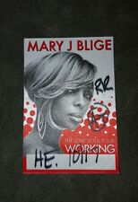 Mary J Blige backstage pass badge the love soul tour las vegas 2008