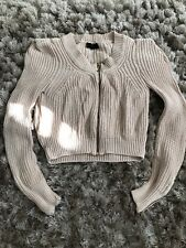 TOPSHOP PALE PINK CARDIGAN WITH GOLD ZIPS SIZE 10