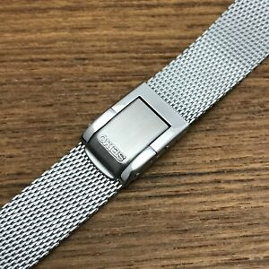 rare 17mm Seiko Stainless Steel Mesh Stelux STL nos Vintage Watch Band