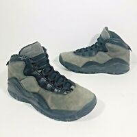 Nike Air Jordan 10 Retro BG Dark Shadow Black 310806-002 Size 5.5Y / Women's 7