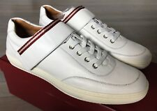 550$ Bally Oasys White Leather Sneakers size US 12