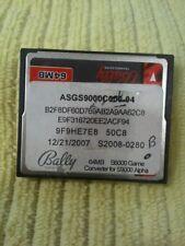 BALLY S6000 GAME CONVERTER FOR S9000 ALPHA  64MB CF Original SEE PHOTOS