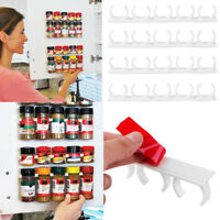 Clip N Store Home Kitchen Organizer Stick Spice Wall Rack Shelf Storage Gripper