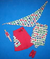 Vintage SKIPPER Day at the Fair Complete Outfit #1911 Mini Barbie Scarf Shoes