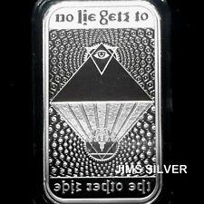 2019 Silver Shield NO LIE 1 oz. Silver PROOF w/ COA & FREE CAPSULE! IN STOCK