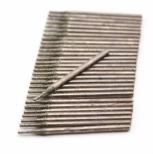 30Pcs 1 mm Diamond Coated Core Drill Saw Hole Cutter Solid Bits for Gemstone