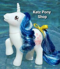 HQG1C Vintage G1 MLP Style Custom 💜 TRUE BLUE 2 💜Glow in Dark Date Night Pony!