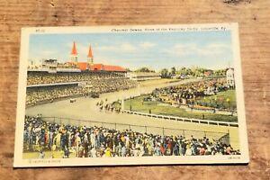 Linen postcard Churchill Downs, Kentucky Derby, Louisville, KY Unposted