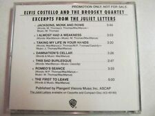 ELVIS COSTELLO AND THE BRODSKY QUARTET EXCERPTS FROM THE JULIET LETTERS PROMO CD