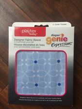 Playtex Baby Diaper Genie Expressions Fabric Sleeve Cover Blue