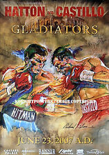 RICKY HATTON vs JUAN LUIS CASTILLO / Authentic DUAL SIGNED Onsite Boxing Poster