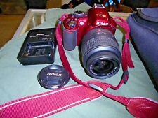 Nikon D3100 14.2MP Digital SLR Camera Body w/ AF-S DX 18-55mm VR Lens in RED