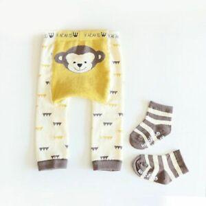 Animal Print Warm Tight Pantyhose For Baby Cotton Knitting Pants Socks Set Soft