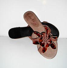 $159 New  Couleur Pourpre Soft Brown Leather Sandal Shoe sz 6/36 Top quality!