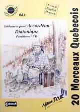 Accordéon diatonique : recueil de tablatures : 20 morceaux Québecois