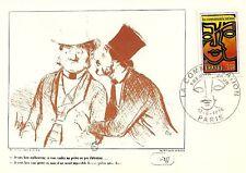 CP MAXIMUM PREMIER JOUR LA COMMUNICATION DAUMIER 1976
