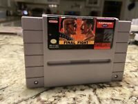 * AUTHENTIC & TESTED * Final Fight - SNES Super Nintendo Game Cartridge Capcom