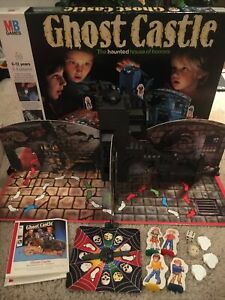 Ghost Castle Board Game MB Games Vintage Toy 1985 Complete apart from 1 Mask