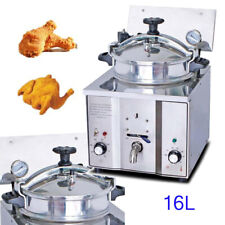 16L Commercial Electric Countertop Pressure Fryer ceramic Heater Chicken Fish US