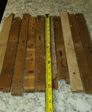 Wiker's Salvaged 1800s Wood Lath Pieces Reclaimed Lath Arts Wall Art Crafts