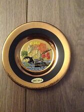 Collectable Art of Chokin Japan Small Plate - Dolphins