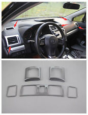 Inner Air Vent Outlet Cover trim 5pcs For Subaru XV Impreza Hatchback 2012-2015