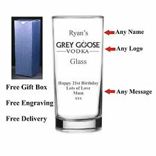 Personalised Hi Ball Grey Goose Glass, Birthday Gift 18th 21st 30th 40th 50th