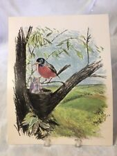 Frances Hook 1962 God Takes Care of the Birds print