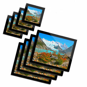 4x Glass Placemates & Coasters  - Los Glaciares National Park Argentina  #12593