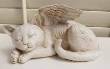 PET CAT MEMORIAL STATUE PLAQUE GARDEN ROCK MARKER GRAVESTONE  POLY-RESIN  NEW