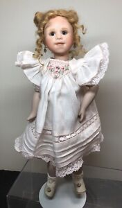 "10"" Artist Doll By Annette Herrmann Bisque & Compo BJ Body Redhead Girl  #R"